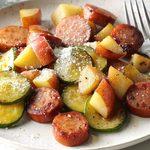 Souper de pommes de terre à la saucisse