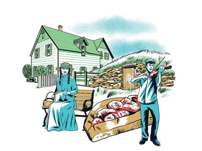Le hameau d'Elliston fait partie des trésors cachés à découvrir au Canada.
