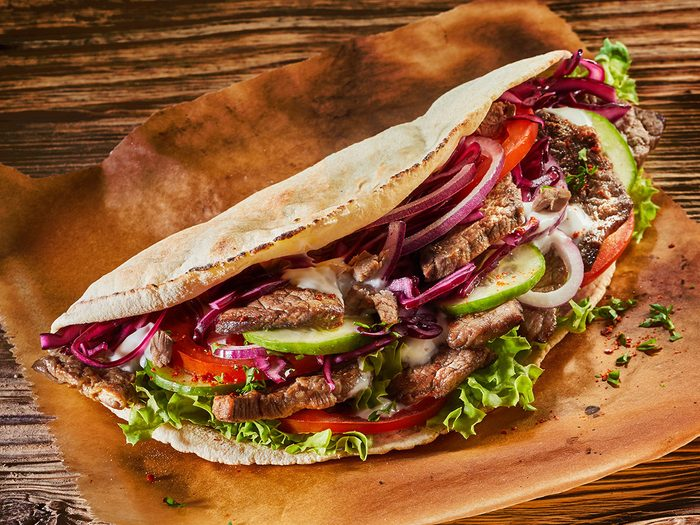 Le kebab du King of Donair fait partie des trésors cachés à découvrir au Canada.