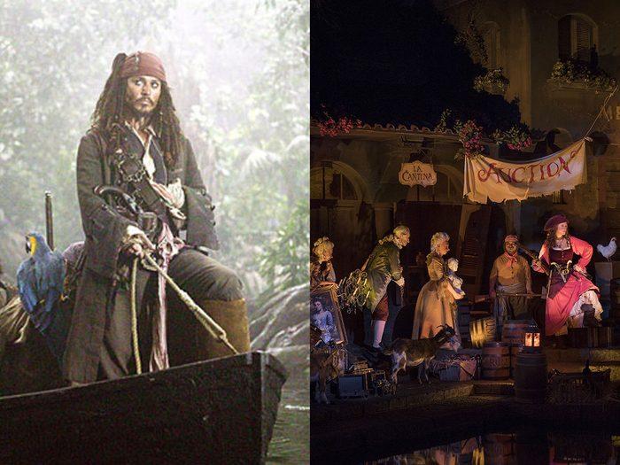 Outre Croisière dans la jungle avec Dwayne Johnson, on retrouve le film Pirates des Caraïbes qui est également inspiré d'un manège.