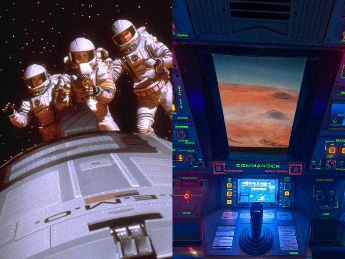 Outre Croisière dans la jungle avec Dwayne Johnson, on retrouve le film Mission sur Mars qui est également inspiré d'un manège.