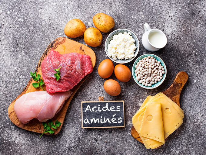 Voici les 9 acides aminés essentiels dont votre corps a besoin.