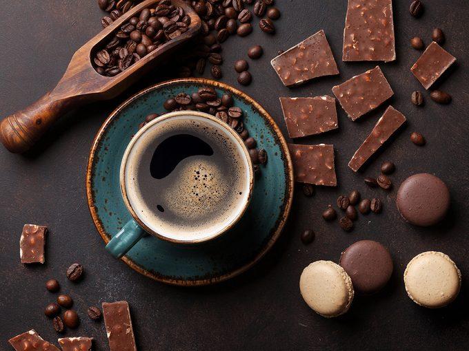 Associations de café et de chocolat.