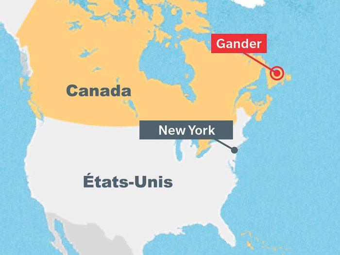 L'aéroport de Gander allait jouer un rôle crucial au moment des attentats du World Trade Center le 11 septembre 2001.