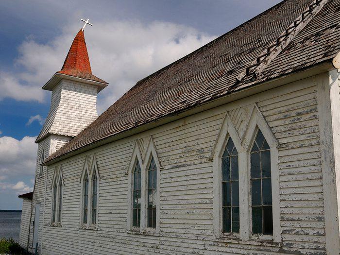 Une église à Gander, ville qui a accueilli de nombreux passagers d'Avion détournés lors des attentats du World Trade Center.