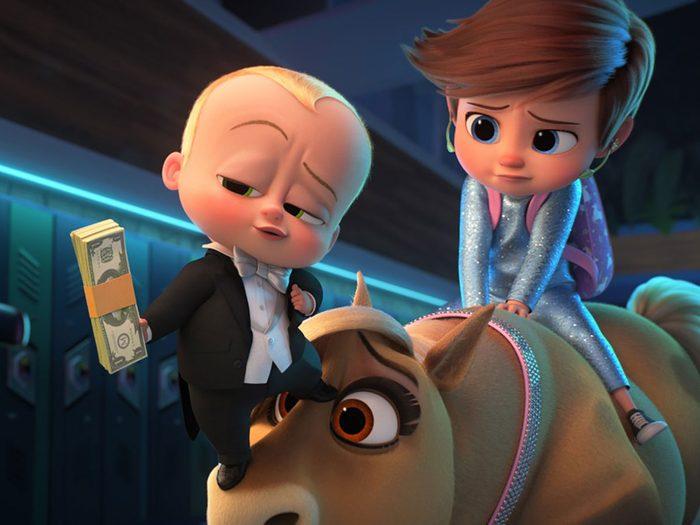 Le Bébé Boss: Une affaire de famille est l'un des films à voir au cinéma avec les enfants.