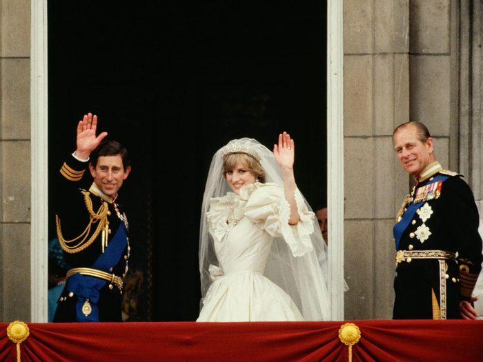Les éléments de secours utilisés lors du mariage de la princesse Diana et du prince Charles.