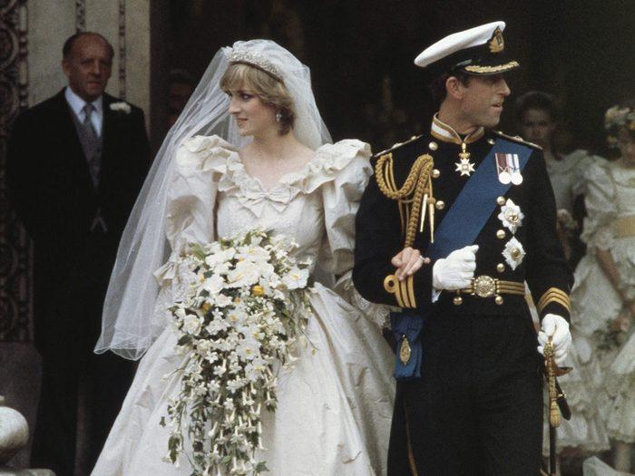 Le bouquet de mariage de la princesse Diana et du prince Charles.