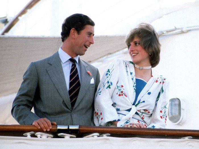La lune de miel du mariage de la princesse Diana et du prince Charles.