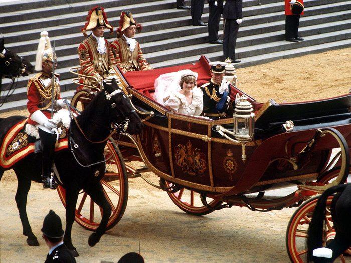 Le coût du mariage de la princesse Diana et du prince Charles.