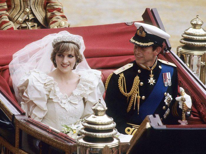 Le diadème porté lors du mariage de la princesse Diana et du prince Charles.