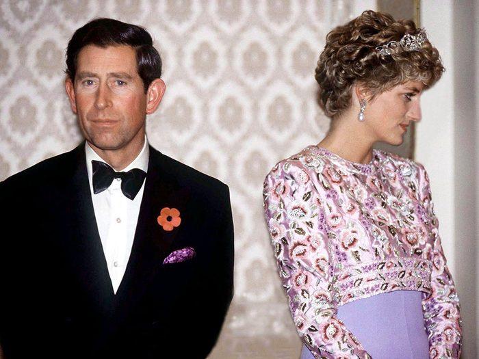 L'échec du mariage de la princesse Diana et du prince Charles.