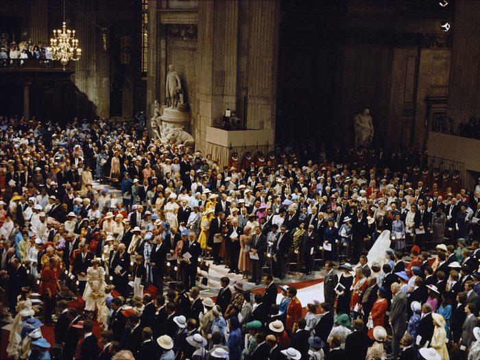 La liste des invités pour le mariage de la princesse Diana et du prince Charles.