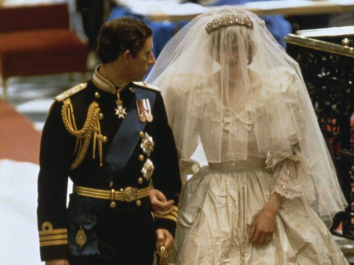 Le parfum porté lors du mariage de la princesse Diana et du prince Charles.