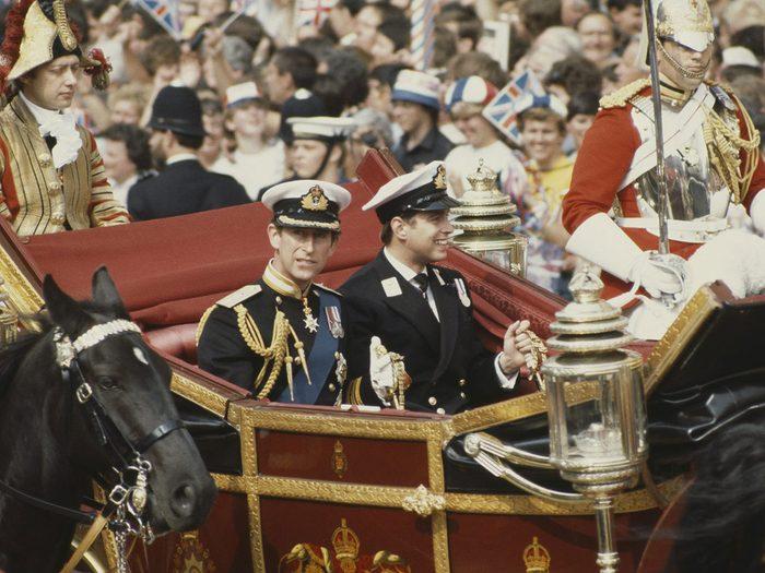 La tenue du prince Charles lors de son mariage avec la princesse Diana.
