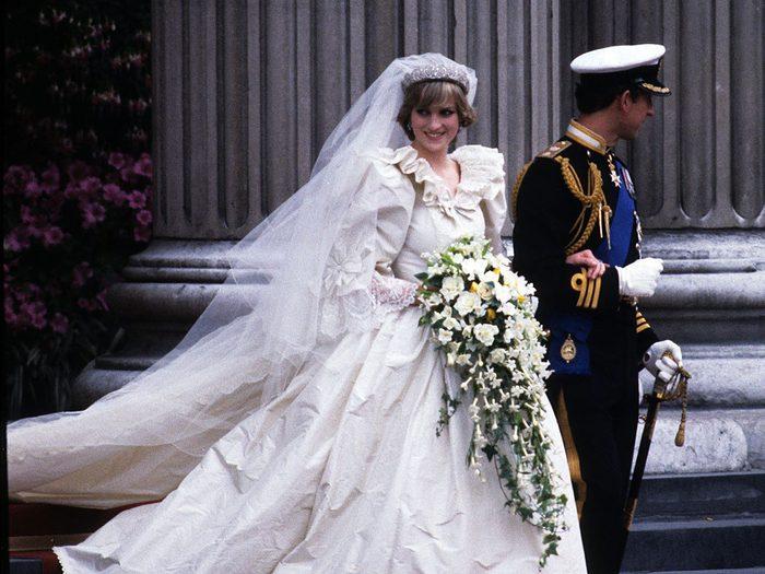 La robe de mariage de la princesse Diana.