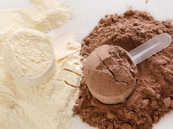 Les protéines séchées font partie des aliments qui améliorent la prise de masse musculaire.