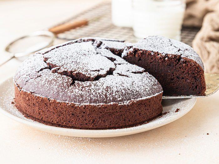 Comment régler le problème de gâteau au chocolat de dernière minute?