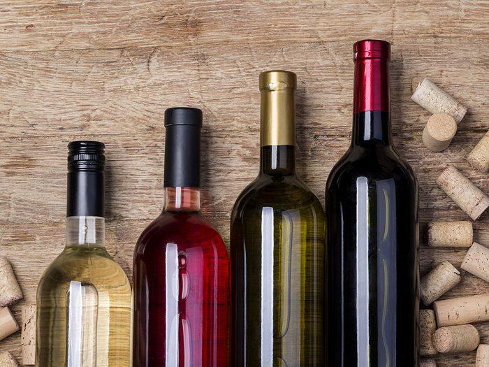 Comment régler le problème de bouteille de vin pas fraiche?