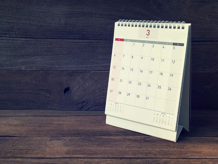 Mieux vaut planifier son syndrome prémenstruel en tenant un calendrier.