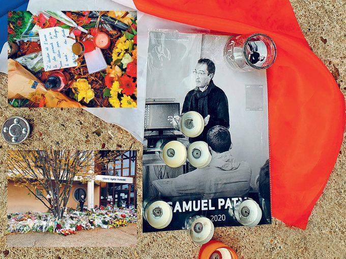 Hommage à Samuel Paty, un professeur aimé.
