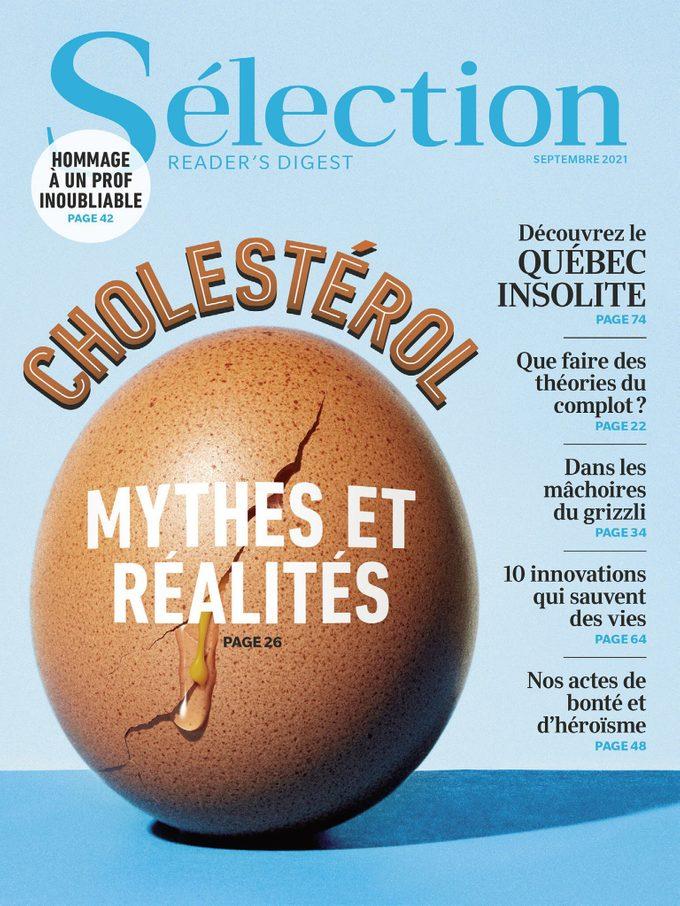 Couverture du magazine Sélection du Reader's Digest du mois de septembre 2021.