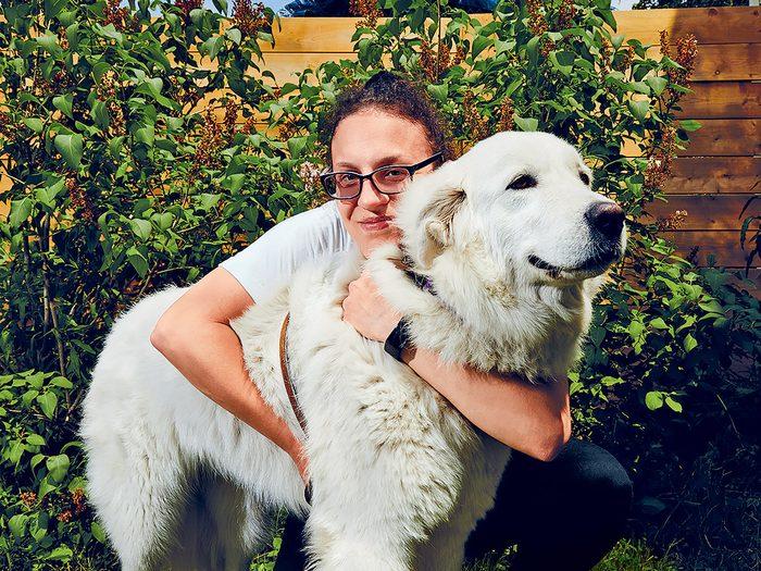 Générosité: un chien sauve la vie de sa propriétaire.