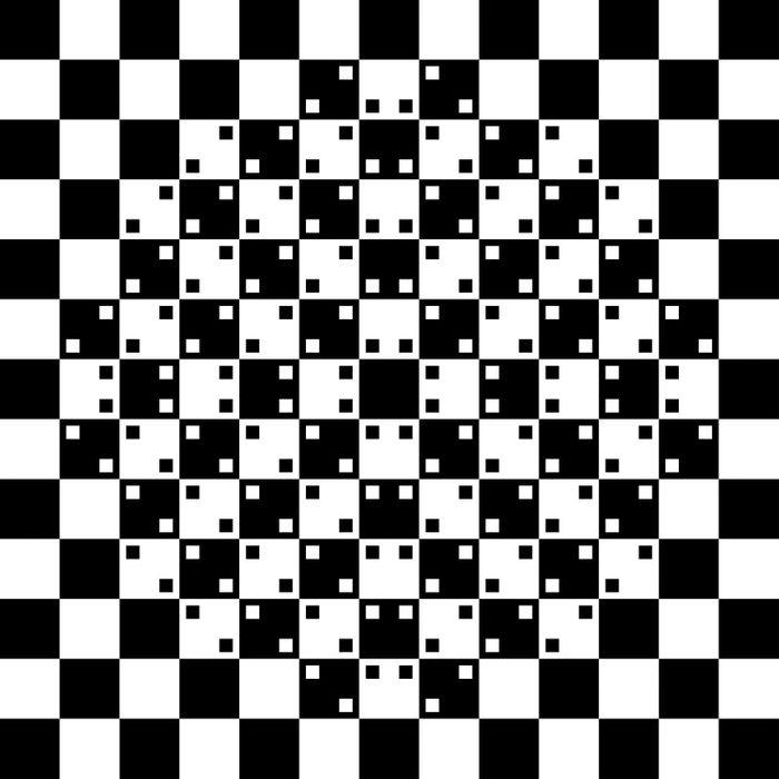 L'illusion d'optique des carrés ondulés.