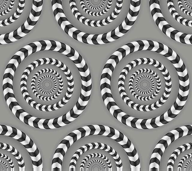 L'illusion d'optique des cercles tournants.