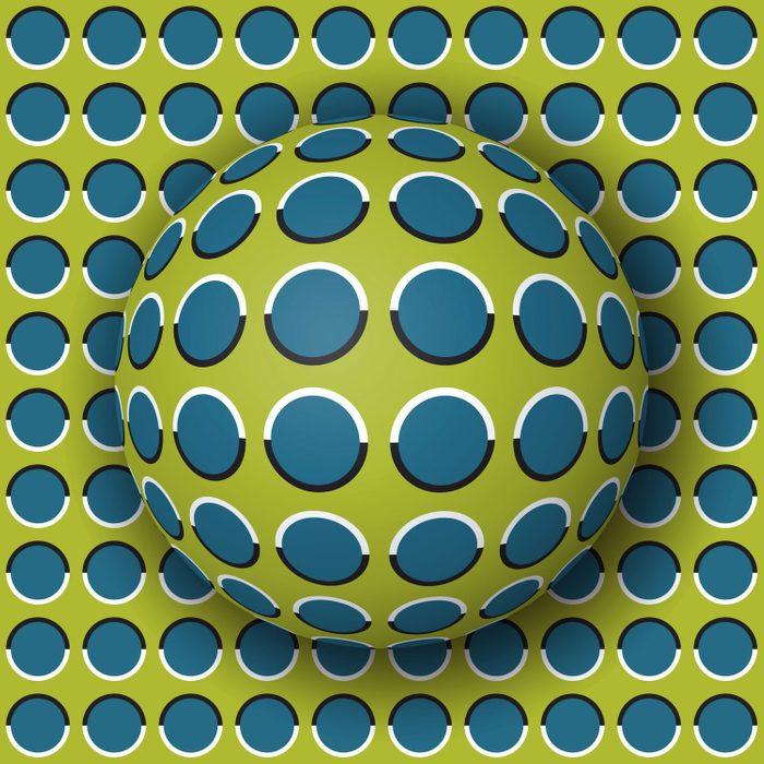 L'illusion d'optique de la sphère qui défile.