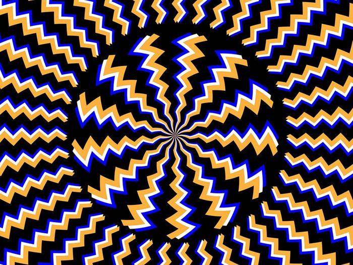 L'illusion d'optique hypnotisante.