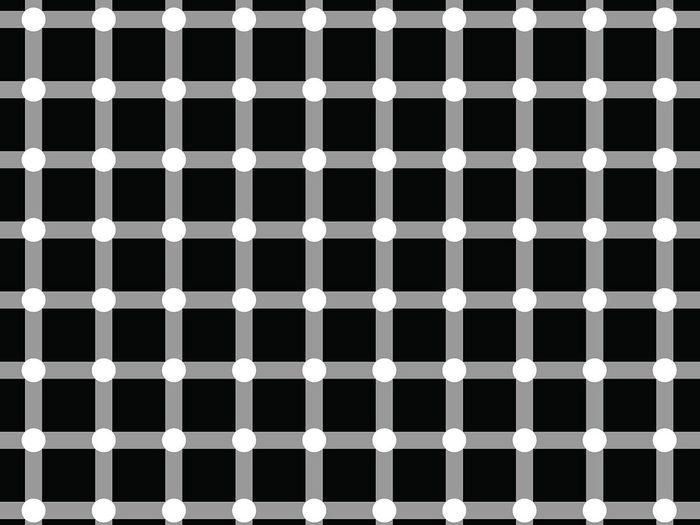 L'illusion d'optique de la grille scintillante.