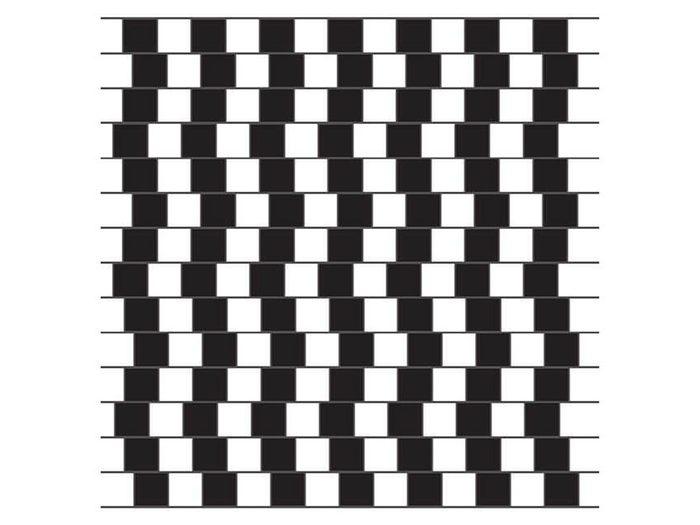 L'illusion d'optique du mur du café.
