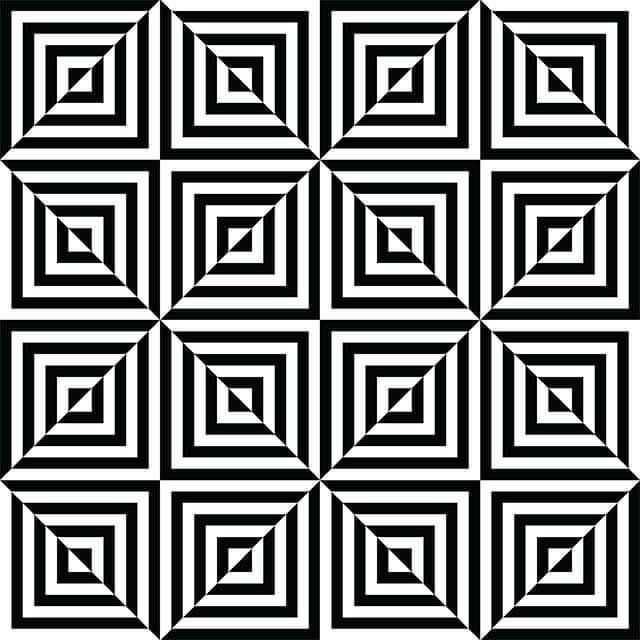 L'illusion d'optique des nouveaux carrés.