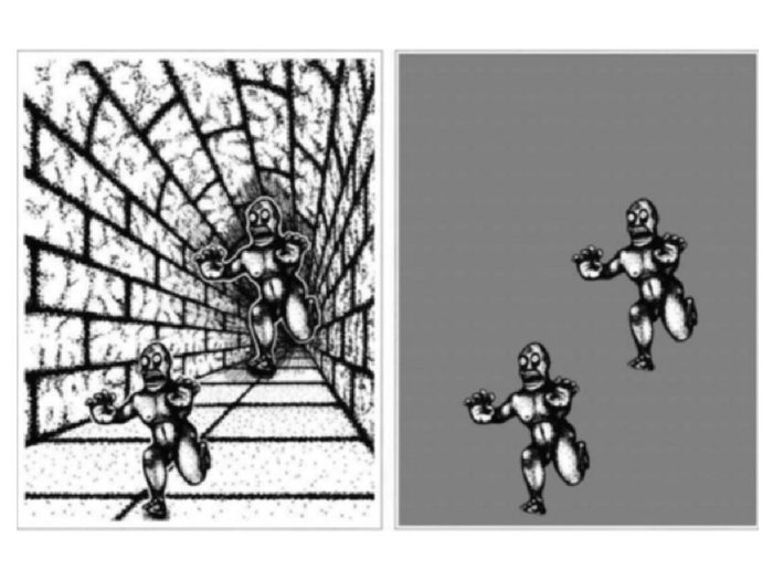 L'illusion d'optique des monstres.