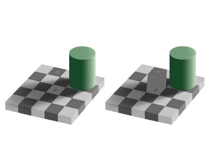 L'illusion d'optique de la zone grise.