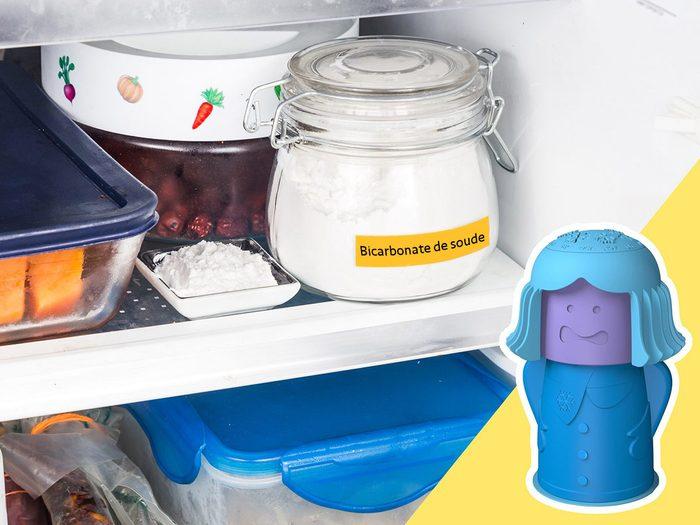 Soyez attentif au bicarbonate de soude lors du nettoyage du frigo.