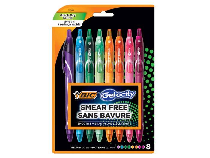 Les stylos BIC Gel-ocity font partie de nos trouvailles pratiques et utiles à adopter pour la rentrée scolaire.
