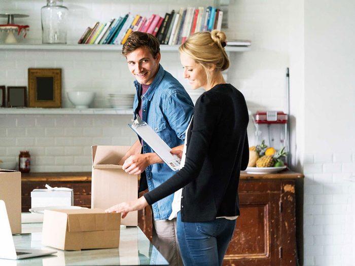 Entretien de la maison: faites l'inventaire de vos possessions.