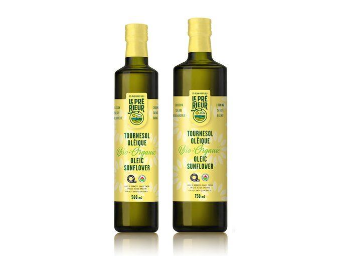 L'huile de tournesol oléique biologique fait partie des produits québécois à découvrir.