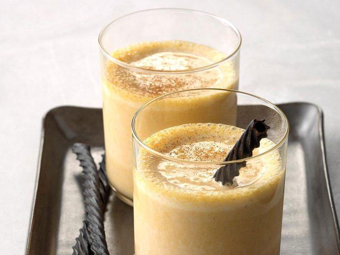 Recette de milk-shakes à la citrouille.