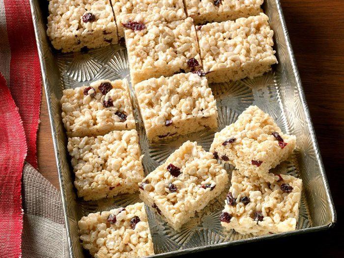 Recette Rice Krispies Carres Barre Collation Fruit
