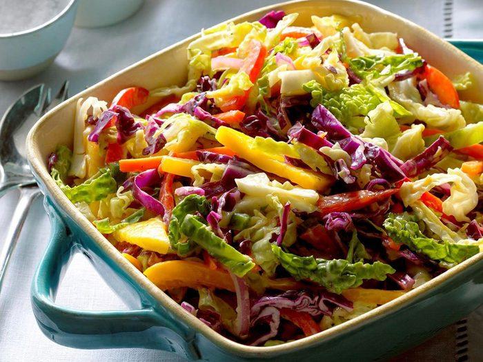 Recettes de salade de chou à la mangue des Îles.