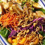 Salade de poulet au gingembre et aux noix de cajou et au chou rouge