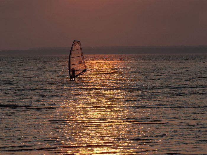 Ce coucher de soleil est l'un des plus beaux souvenirs d'été de Maryse Tremblay.