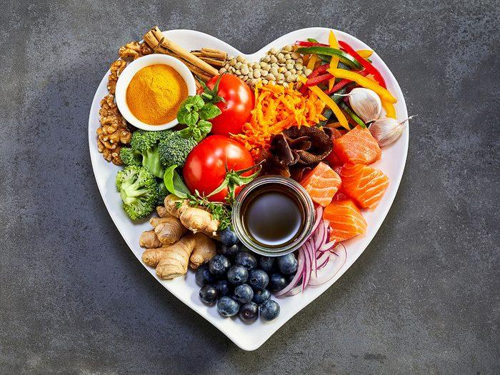 Une alimentation saine pour un cœur sain.