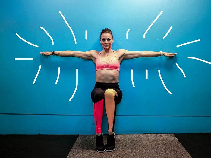 Exercices de musculation: entraînement de 15 minutes par jour.