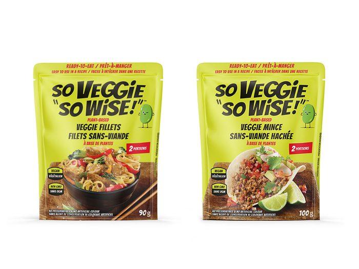 """So Veggie """"So Wise!"""" est une nouvelle marque de produits véganes."""
