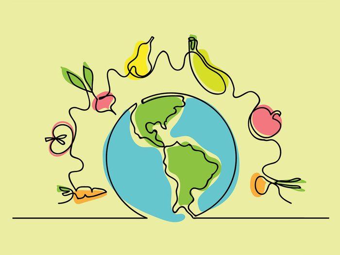 Alternatives véganes aux aliments d'origine animale.