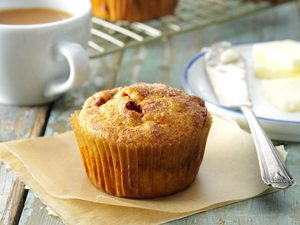 Muffins aux canneberges et aux patates douces